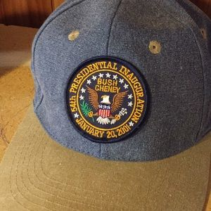 Vintage presidential inauguration snap back 2001
